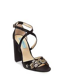 Betsey Johnson Finly Satin Pumps BLACK