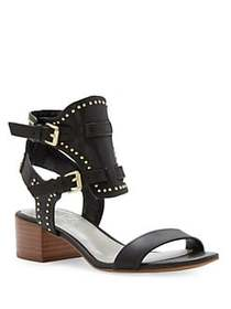 1.STATE Studded Ankle Buckle Sandals BLACK