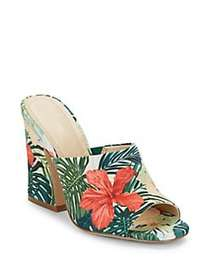 Charles by Charles David Hector Floral-Print Mules
