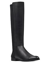 Nine West Owenford Leather Riding Boots BLACK