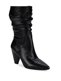 Anne Klein Yurika Point-Toe Slouchy Boots BLACK
