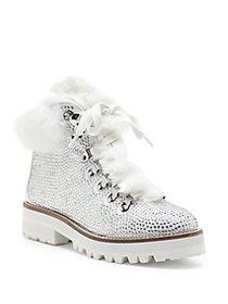 Jessica Simpson Norina Embellished Faux Fur Boots
