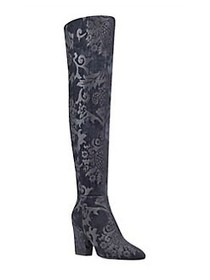 Nine West Siventa Textile Over-The-Knee Boots BLAC