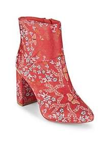 Ted Baker London Ishbel Textile Booties RED KYOTO