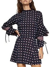 BCBGeneration Double Dot Cut-Out Sleeve Cropped To