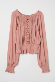 Blouse with Wide Neckline