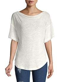 Free People Classic Curved Hem Tee IVORY