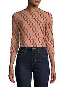 Free People Diamond Cropped Top RED