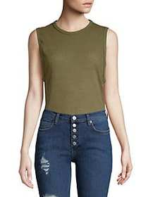 Free People All Time Sleeveless Bodysuit ARMY