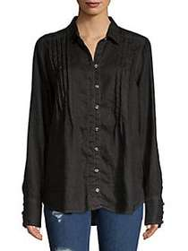 Free People Breezy Mornings Linen Button-Down Shir