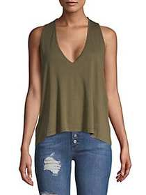Free People Macrame Knotted Tank Top ARMY