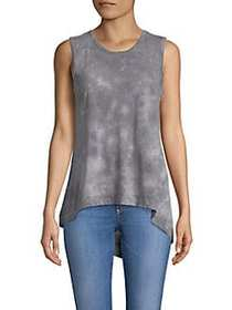 C&C California Sleeveless Asymmetric Top GREY
