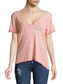 Free People Saturday Short-Sleeve Tee CORAL