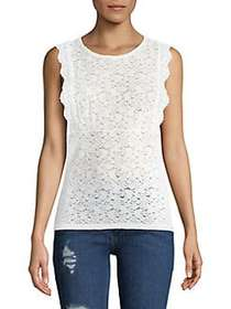 Free People Sure Thang Lace Top IVORY