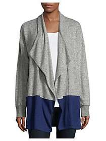 Tommy Hilfiger Two-Tone Open Cardigan HEATHER BLUE