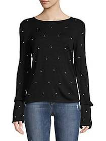 Context Embellished Bell-Sleeve Top BLACK