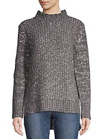 JONES NEW YORK Classic High-Neck Sweater PEWTER