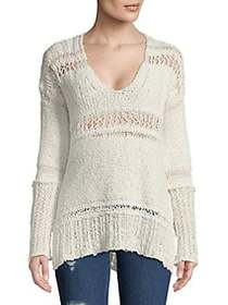 Free People Belong-to-You Cotton Sweater IVORY
