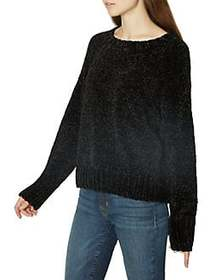 Sanctuary Long Sleeve Chenille Sweater BLACK