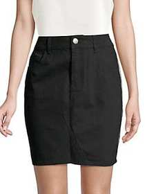Dorothy Perkins Side Stripe Cotton Mini Skirt BLAC