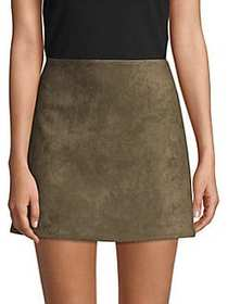 French Connection Classic Faux Suede Mini Skirt TA