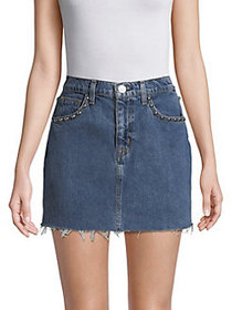 Hudson Jeans Viper Mini Denim Skirt VIBRANT LIFE