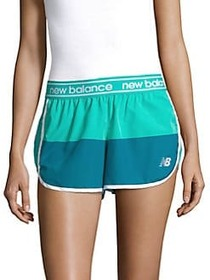 New Balance Colorblock Athletic Shorts BLUE