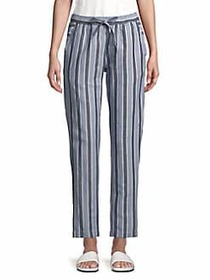 French Connection Serra Striped Pants SEA BREEZE