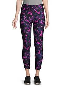 Betsey Johnson Printed Mesh Leggings CAMO ORCHID