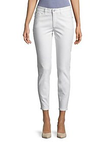 Lord & Taylor Cropped Skinny Pants WHITE