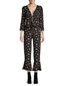 Free People Floral El Paso Pant Set BLACK