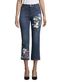 Weekend Max Mara Ron Floral Crop Flare Jeans ULTRA