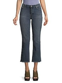 Free People Austin Wide-Leg Cropped Jeans BLUE