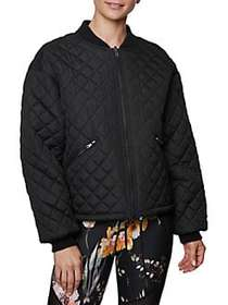 Betsey Johnson Reversible Quilted Bomber Jacket BL
