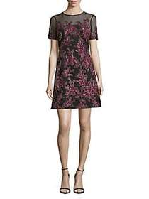 Tadashi Shoji Embroidered Floral Illusion Dress SA