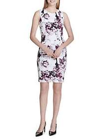 Calvin Klein Sleeveless Floral Sheath Dress AUBERG
