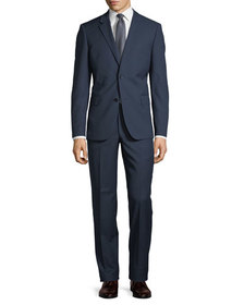 Neiman Marcus Two-Button Textured Two-Piece Suit N