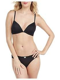 Betsey Johnson Micro and Lace Wirefree Bra BLACK