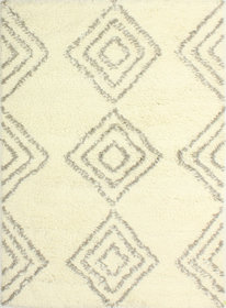 Lavedan Wool Hand-Knotted Ivory Area Rug