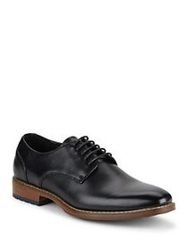 Black Brown 1826 Robert Leather Derby Shoes BLACK