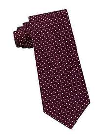 Tommy Hilfiger Preppy Classic Dot Silk Tie DARK RE