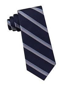 Tommy Hilfiger Classic Striped Silk Tie BLUE