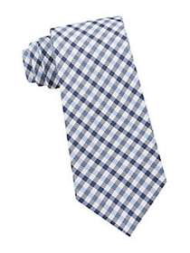 Tommy Hilfiger Mini Gingham Silk Tie BLUE
