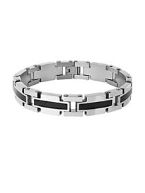 Lord & Taylor Two-Tone Link Bracelet SILVER