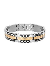 Lord & Taylor Layered Link Bracelet SILVER