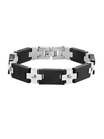 Lord & Taylor Two-Tone Screw Design Bracelet SILVE