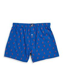 Nautica Patterned Cotton Knit Boxers BLUE ANCHOR