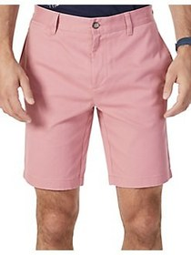 Nautica Slim-Fit Flat Front Shorts RED