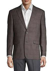 Tommy Hilfiger Plaid Button Sportcoat GREY