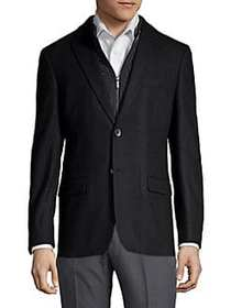 Tommy Hilfiger Wool-Blend Sportcoat BLACK